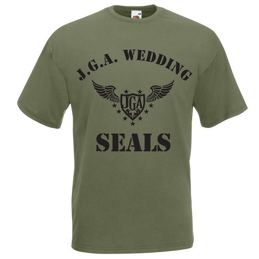 T-Shirt mit JGA Wedding Seals Motiv