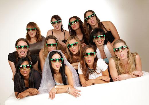 Fotoshooting mit Braut und Freundinnen
